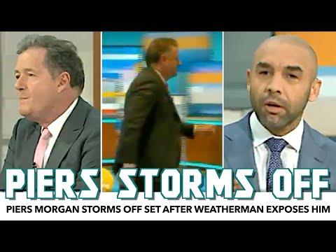 Piers Morgan Storms Off Set After Weatherman Exposes Him