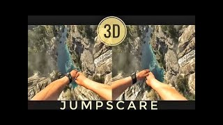 VR Acrophobia? 3D Jump from Mountain VR [Google Cardboard VR Box 360] Virtual Reality Video 3D SBS