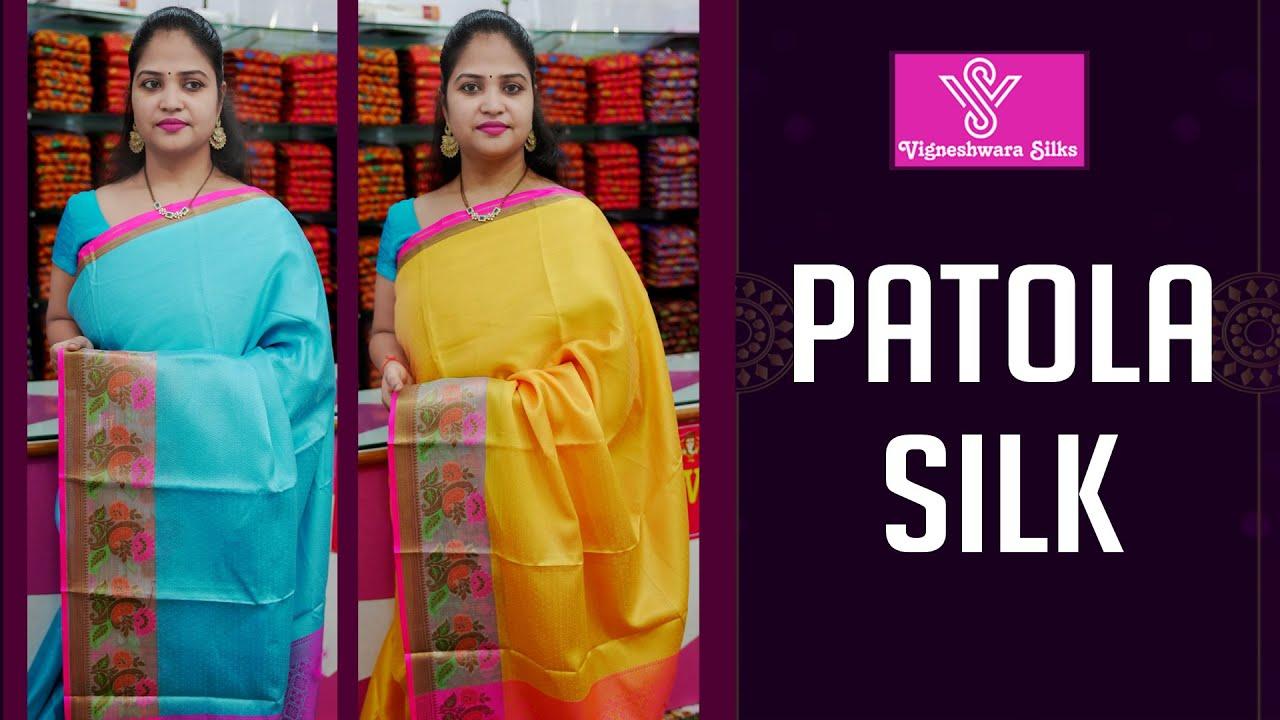 "<p style=""color: red"">Video : </p>Patola silk sarees     Vigneshwara Silks    2021-08-03"
