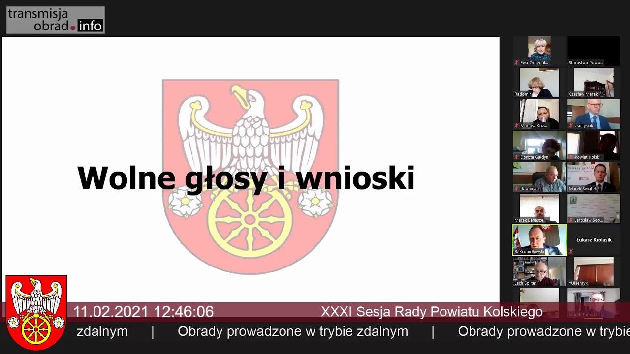 Zdjęcie do XXXVI Nadzwyczajna Sesja Rady Powiatu Kolskiego