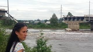 В Чите рухнул поврежденный паводком мост 2
