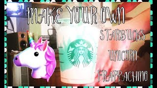 Make Your Own Unicorn Frappichino With MSQ