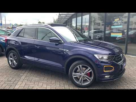 Volkswagen NEW T-roc R-line 2020 in 4K Atlantic Blue 18 inch Sebring walk around & detail inside