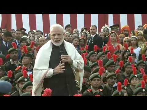 PM Modi interacts with NCC cadets, NSS Volunteers and Tableaux Artist