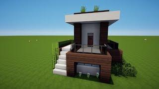 X KLEINES MODERNES MINECRAFT HAUS Bauen TUTORIAL HAUS видео Видео - Minecraft schone einfache hauser