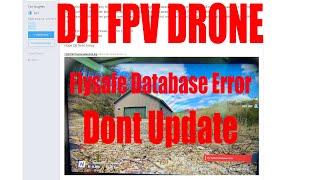 DJI FPV DRONE BRICKED - FLYSAFE DATABASE ERROR DONT UPDATE