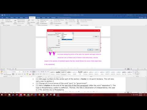 MOS: Microsoft Word 2016 Certification Review - YouTube