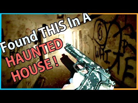 We Found A GUN In A HAUNTED HOUSE !!