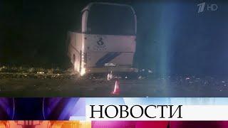 В Краснодарском крае автобус, ехавший из Анапы в Ярославль, врезался в дерево.
