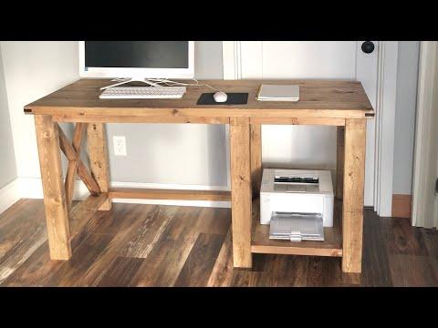 Rustic X Desk