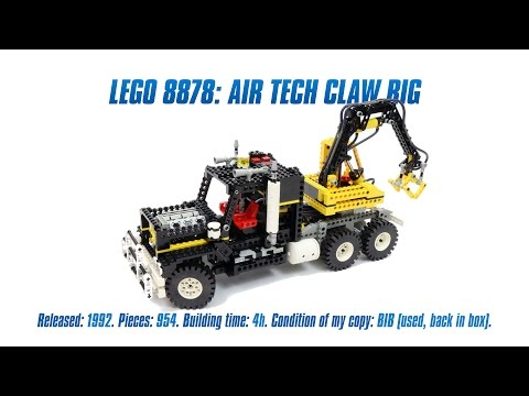 LEGO Technic Air Tech Claw Rig Speed Build & Review