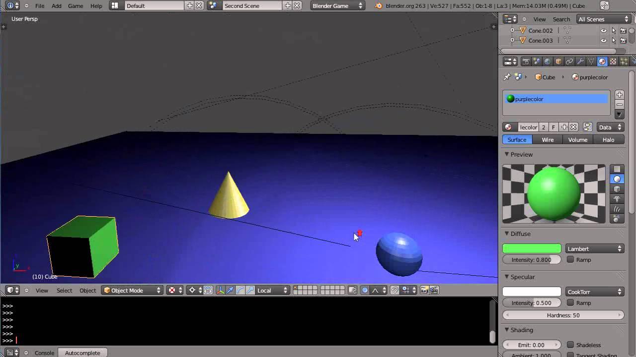 Blender 2.6 Tutorial - Game Engine Physics - Part 13