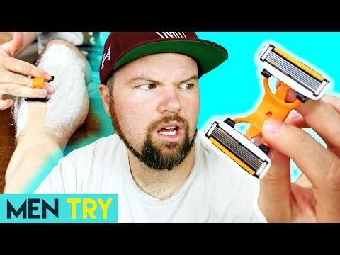 Men Try Strange New 12 Blade Razor – Shaving Their Legs