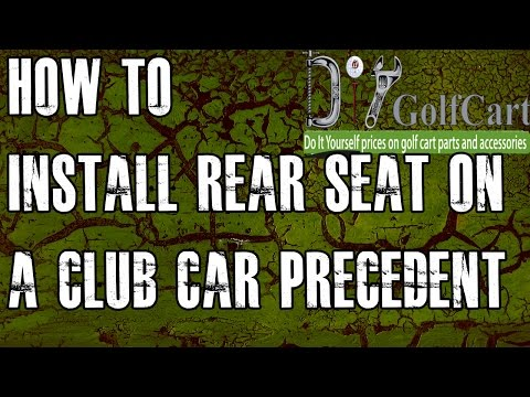 Club Car Precedent Rear Seat Kit | How to Install Video | Installing a Golf Cart Back Seat