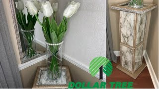 DIY DOLLAR TREE GLAM 💎 ACCENT TABLE /USING PICTURE FRAMES 🤩