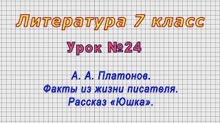 Литература 7 класс Урок 24