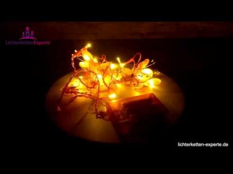 Lichterketten LED Batterie Schmetterlinge Pink