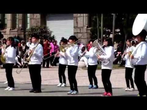 京都さくらパレード2015 王寺町立王子中学校吹奏楽部