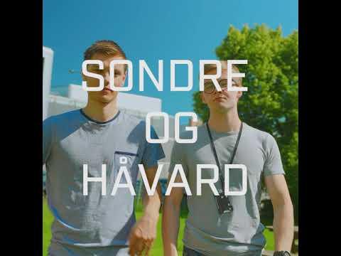 Håvard og Sondre er sommerstudenter i SINTEF. Video: Magnus Biringvad
