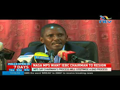 Nasa MPs say IEBC Chairman Wafula Chebukati's participation will legitimise a bad process