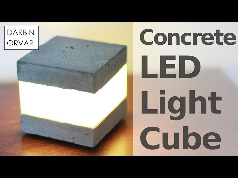 Build Your Own Accent Light With Concrete And Some LEDs