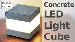 Concrete LED Light Cube