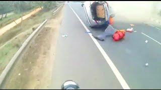 Dangerous accident live खतरनाक एक्सीडेंट भगवान ने ही बचाया नहीं तो परखच्चे उडजाते