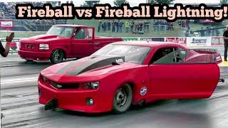 Fireball Camaro vs Fireball Lightning at No Prep Kings 2 Topeka Kansas
