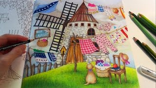 The Treehouse Romantic Country A Fantasy Coloring Book Coloring