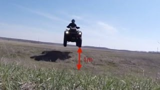 preview picture of video 'ATV OMSK BRP jumping'