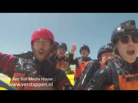 A White water rafting warm up with Max Verstappen, Ricciardo, Sainz and Kvyat, 07/06/2017