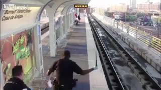 Oficer Policj rezygnuje po pobiciu człowieka na stacji kolejowej
