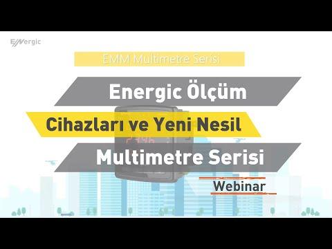"""ENTES Webinar: Energic Ölçüm Cihazları ve Yeni Nesil Multimetre Serisi """"EMM"""""""