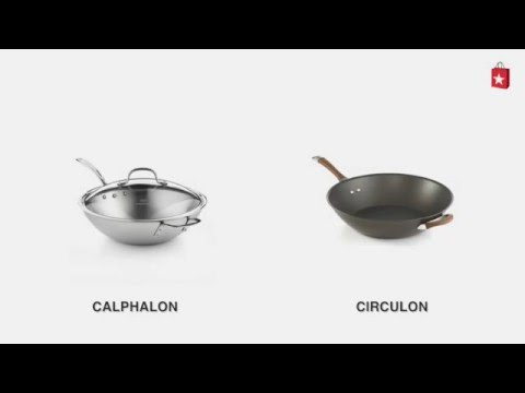 Calphalon Tri-Ply Stainless Steel 12 In. Covered Stir Fry Comparison Video