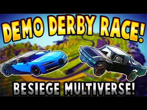 Besiege – DEMO DERBY RACE! – Besiege Multiverse Gameplay – Multiplayer Races & User Creations