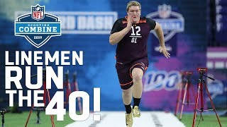Offensive Linemen Run the 40-Yard Dash | 2019 NFL Combine Highlights