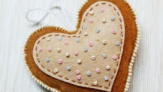 How To Make A Lovely Felt Heart Ornament - DIY Crafts Tutorial - Guidecentral