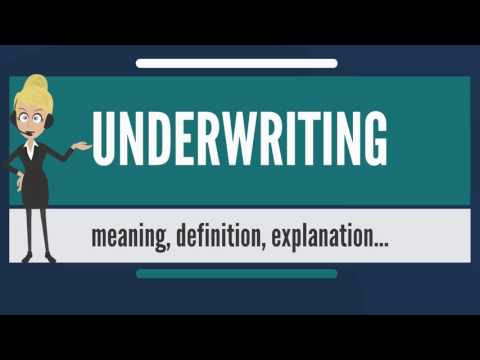 What is UNDERWRITING? What does UNDERWRITING mean ...