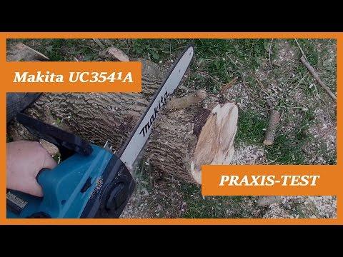Elektro Kettensäge Makita UC3541A I Test [Deutsch/German]