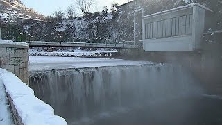Polar conditions in Bosnian capital Sarajevo