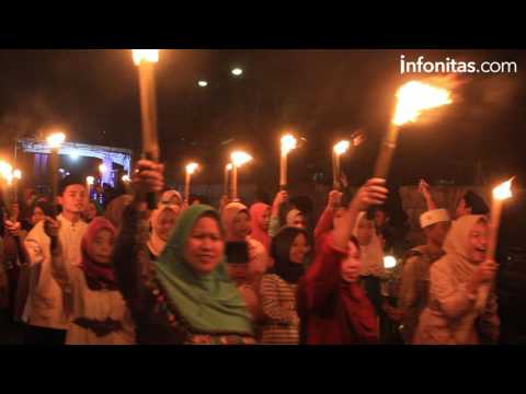 Pawai Obor RPTRA Kembangan Utara Sambut Ramadhan 1438 H