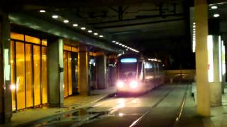 preview picture of video 'Tram Orléans sous la pleine lune - Tram Orléans bei Vollmond'