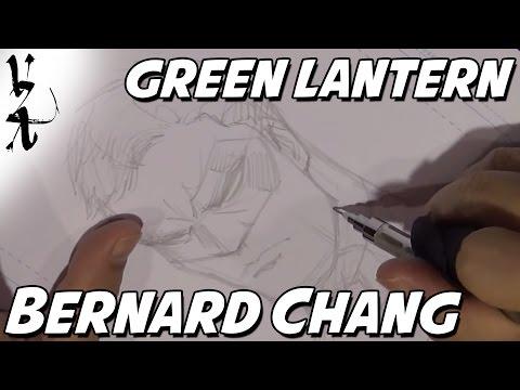 Bernard Chang drawing Green Lantern