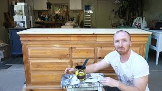 Creating A Farmstyle Dresser From An Old Dresser | DIY | Furniture Makeover Paint And Stain Project