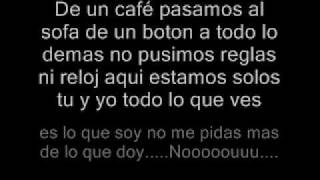 Yo no se mañana con letra Luis Enrique