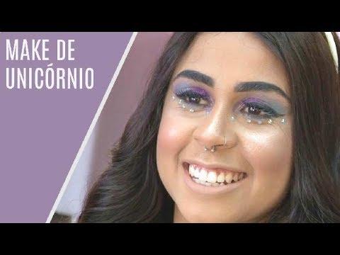 Aprenda a fazer maquiagem de unicórnio