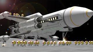 40-seat Mun SSTO in KSP 1.1
