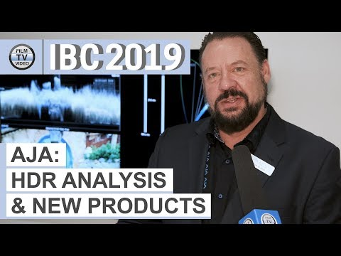 IBC2019: Aja HDR Image Analyzer 12G & other new products