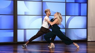 Jordan Fisher & His 'DWTS' Pro Partner Lindsay Perform a Sexy Samba