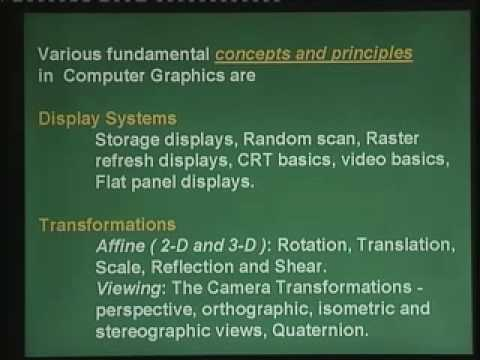 Lecture - 1 Introduction to computer graphics - YouTube